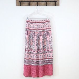 Liz Claiborne maxi skirt floral boho print